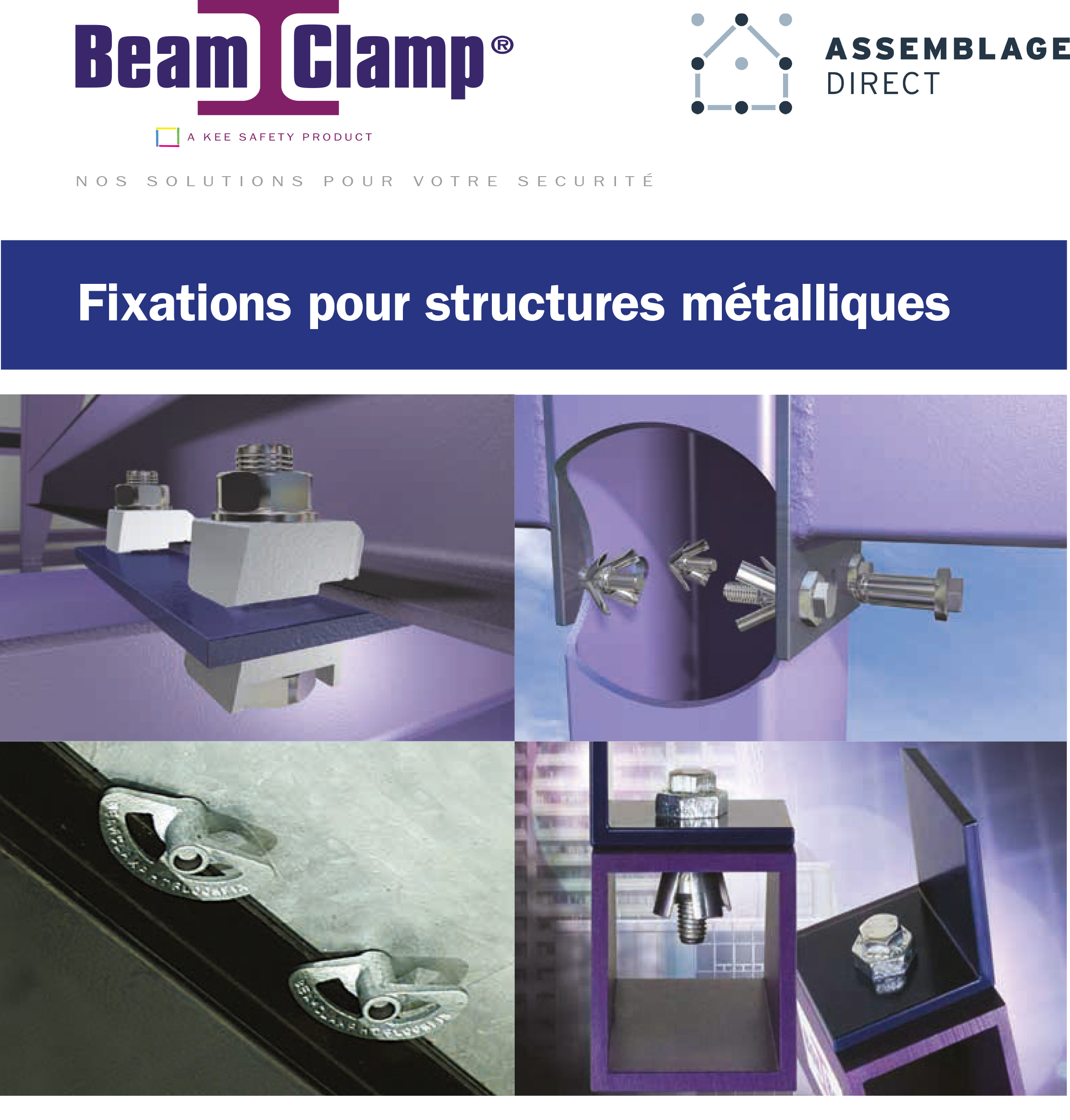 catalogue fixations pour structure metalliques