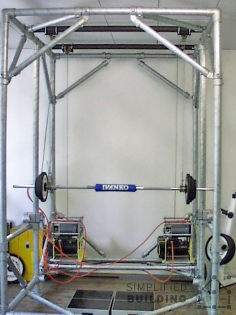 Cage de crossfit et rack de musculation DIY